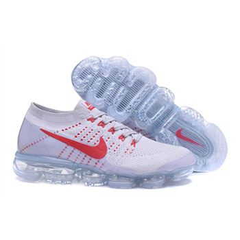 Womens Nike Air Vapormax Flyknit Shoes White And Red