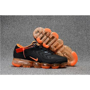Mens Nike Air Vapormax Flyknit Shoes Black And Orange