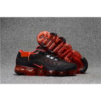 Mens Nike Air Vapormax Flyknit Shoes Black And Red