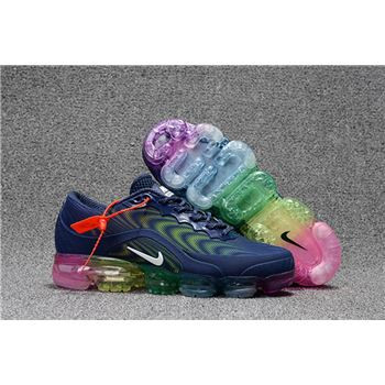 Mens Nike Air Vapormax Flyknit Shoes Blue And Pink