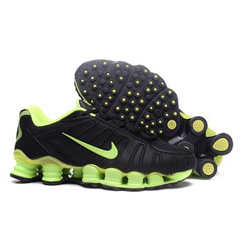 Mens Nike Shox Shoes Green And Black