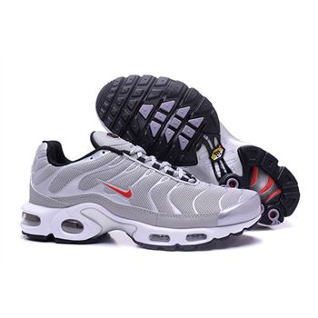 Mens Nike Air Max Tn Shoes Gray And White